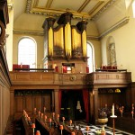The instrument is a Harris and Byfield organ.